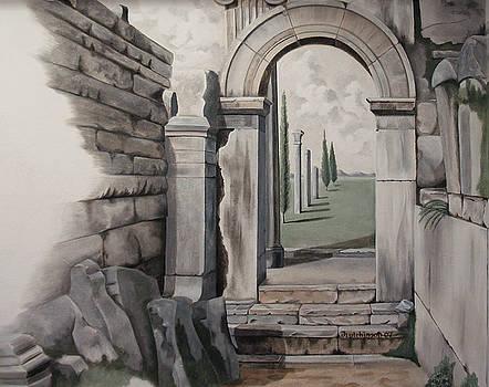 Greek Portal by Joyce Hutchinson