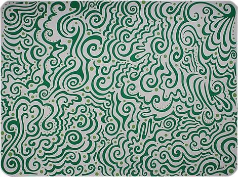 Mandy Shupp - Green Abstract