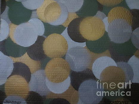 Green and Gold Circles by Sandra Spincola