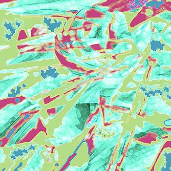 Green and Magenta Flowpaper by Joy McKenzie