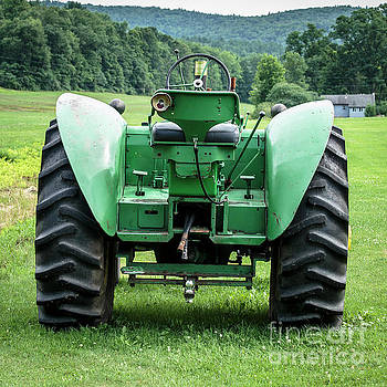 Green and Yellow Vintage Tractor by Edward Fielding