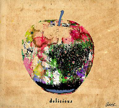 Green apple Poster Print by Robert R Splashy Art Abstract Paintings