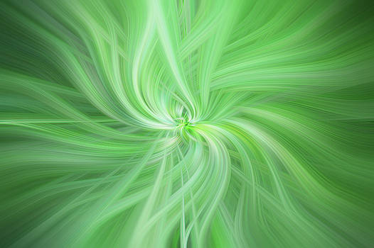Jenny Rainbow - Green Colored Abstract. Concept Health