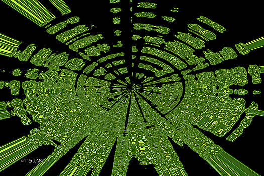 Green Disc Abstract by Tom Janca