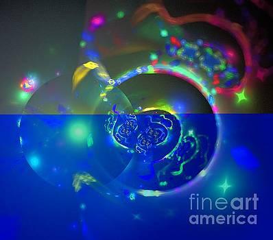Green Galaxy Spheres by Kim Sy Ok
