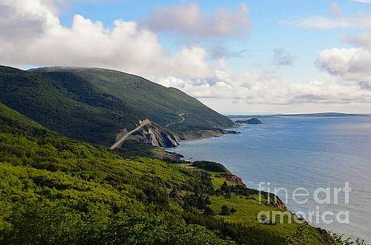 Green Mountains of the Cabot Trail  by Elaine Manley