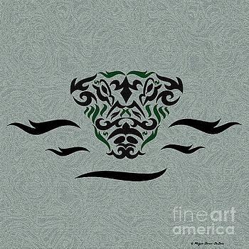 Green Tribal Gator by Megan Dirsa-DuBois