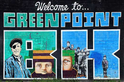 Nina Bradica - GreenPoint Brooklyn Wall Graffiti