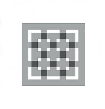 Grey square grid 11 by Jerry Daniel