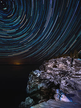 Grotto Star Trail by Cale Best