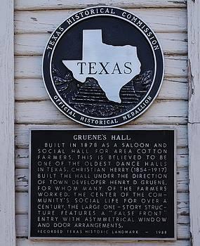 Gruene Hall Historical Marker by Lone Quixote