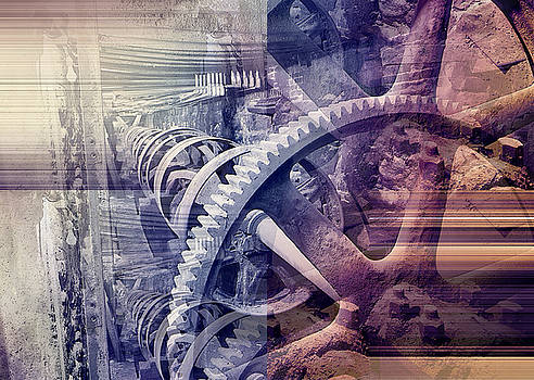 Grunge Gear Abstract by Robert G Kernodle