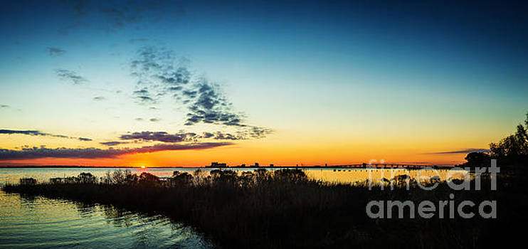 Gulf Coast Sunset Pano by Joan McCool