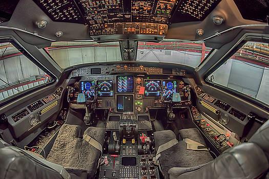 Gulfstream Cockpit by Guy Whiteley