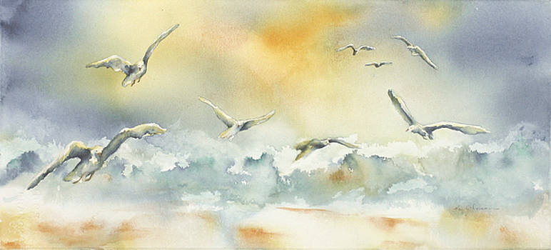 Gulls by Kay Johnson
