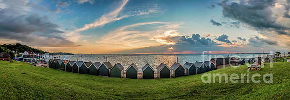 Gurnard Beach Hut Panorama by English Landscapes