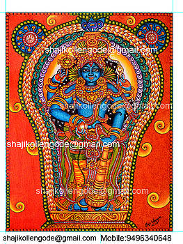 Guruvayurappan- Keral Mural Paitning by Shaji Kollengode