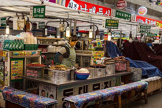 Gwangjang Market Food Booth by James BO Insogna