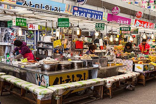 Gwangjang Market Food Stalls by James BO Insogna