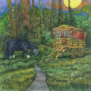 Gwendolyn's Wagon by Casey Rasmussen White