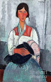 Gypsy woman with baby by Reproductions