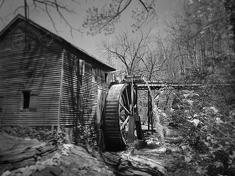 Hagood Mill Waterwheel at Hagood Mill Historic Site by Kelly Hazel
