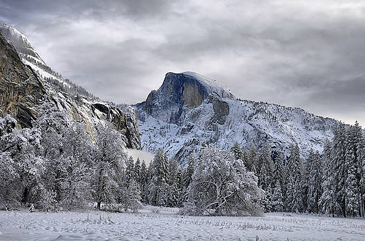 Half Dome in Winter by Frank Remar