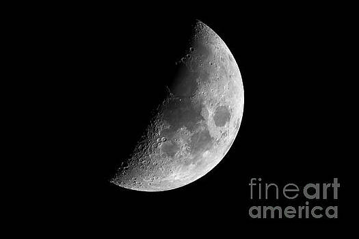 Half earth moon with craters  by Simon Bratt Photography LRPS