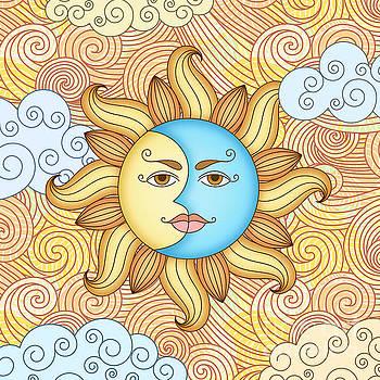 Half Moon and the Sun by Bedros Awak