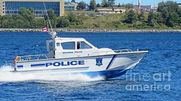 Halifax Regional Police Force Harbor Patrol Boat by John Malone