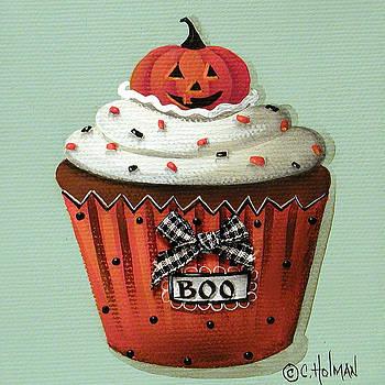 Halloween Pumpkin Cupcake by Catherine Holman