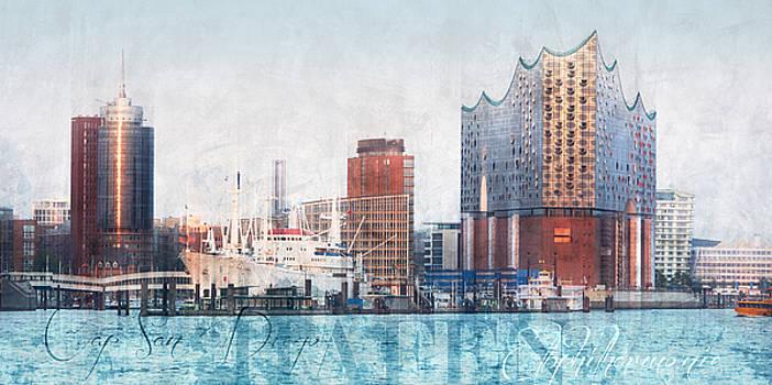 Hamburg Abstract by Marc Huebner