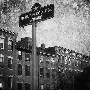 Hamilton Coolidge Square Beacon Hill Boston Urban Black and White Street Scene by Joann Vitali