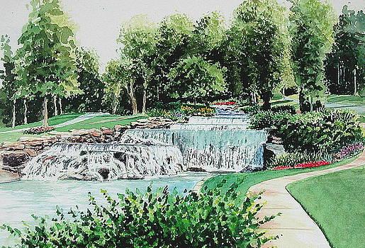 Hampton Cove Waterfall  Huntsville Alabama by Scott Alcorn