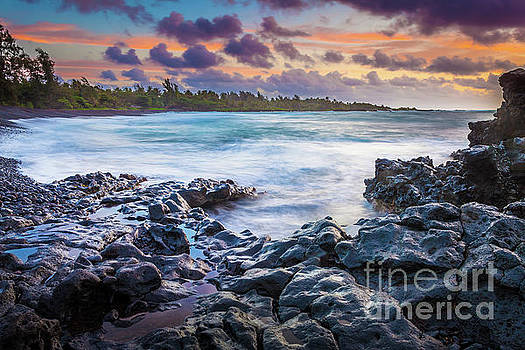 Hana Bay Rocky Shore #1 by Inge Johnsson