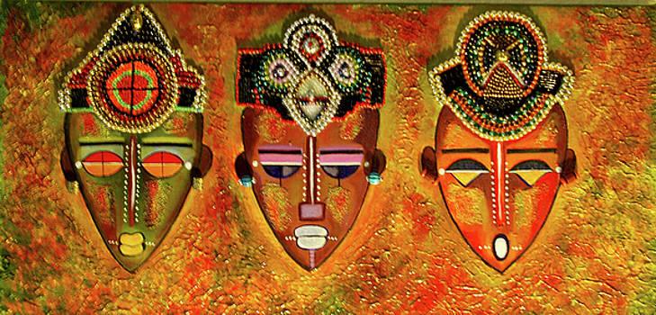 Hand Beaded Masks by Kenji Lauren Tanner