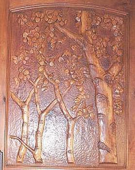 Hand Carved Entry Door  Aspen by Stacey Mitchell