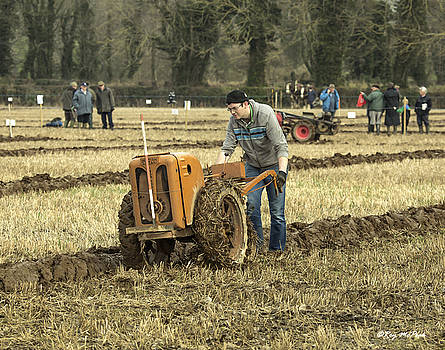 Hand Held Tractor Plough by Roy McPeak