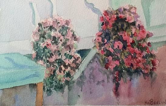 Hanging Flowers by Katherine  Berlin