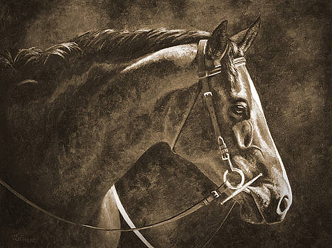 Crista Forest - Hanoverian Horse in Sepia