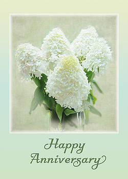 Happy Anniversary - Hydrangeas by Geraldine Alexander