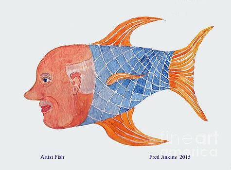 Happy Artist Fish by Fred Jinkins