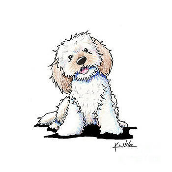Happy Doodle Puppy by Kim Niles