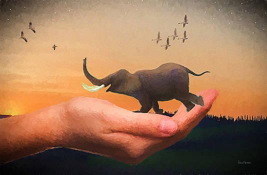 Happy Elephant - Painting by Ericamaxine Price