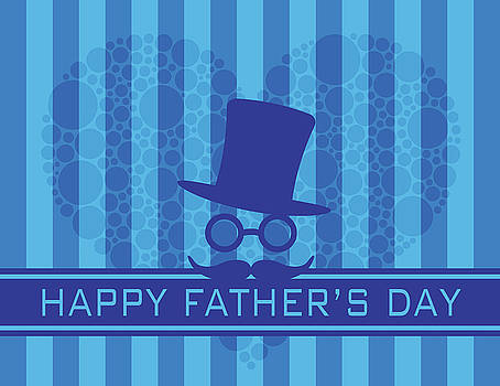 Happy Fathers Day Polka Dot Heart Illustration by Jit Lim