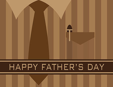 Happy Fathers Day Shirt Tie Illustration by Jit Lim