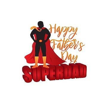 Happy Fathers Day Super Dad Color Illustration by Jit Lim