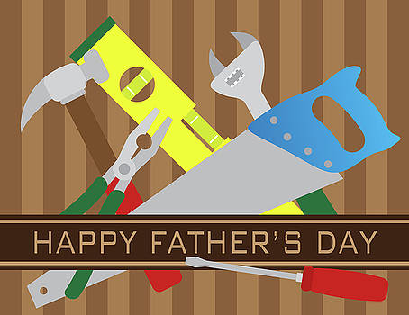 Happy Fathers Day Tools Illustration by Jit Lim