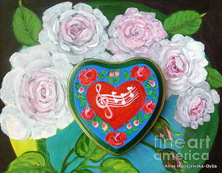 Happy Folk Heart 2 by Anna Folkartanna Maciejewska-Dyba