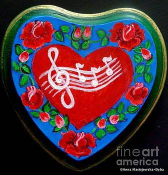 Happy Folk Heart by Anna Folkartanna Maciejewska-Dyba